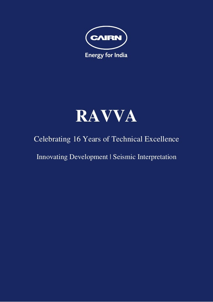RAVVACelebrating 16 Years of Technical ExcellenceInnovating Development | Seismic Interpretation