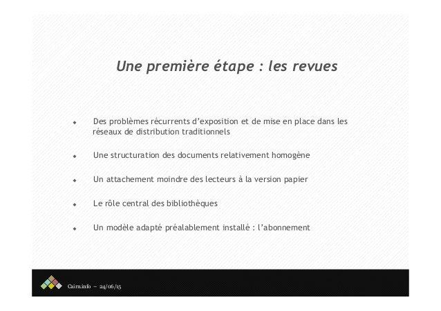 Cairn - Rencontre des éditeurs publics Slide 3