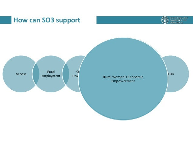 How can SO3 support Access Rural employment Social Protection RWEE RLM IFRD Rural Women's Economic Empowerment