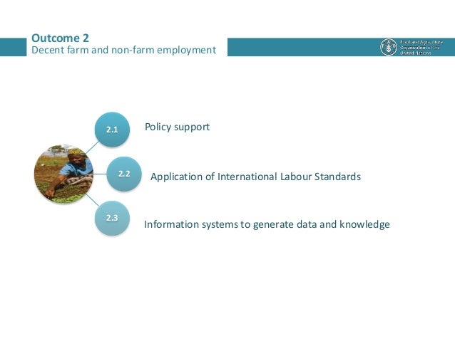 Outcome 2 2.1 2.2 2.3 Policy support Application of International Labour Standards Information systems to generate data an...