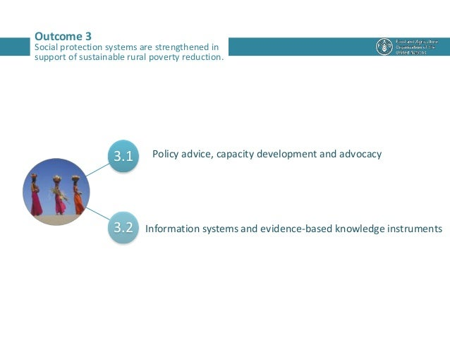 3.1 3.2 Outcome 3 Social protection systems are strengthened in support of sustainable rural poverty reduction. Policy adv...