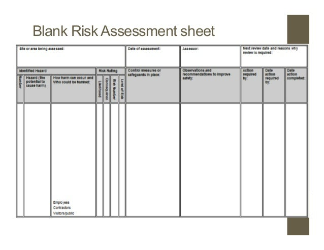 hse risk assessment pdf