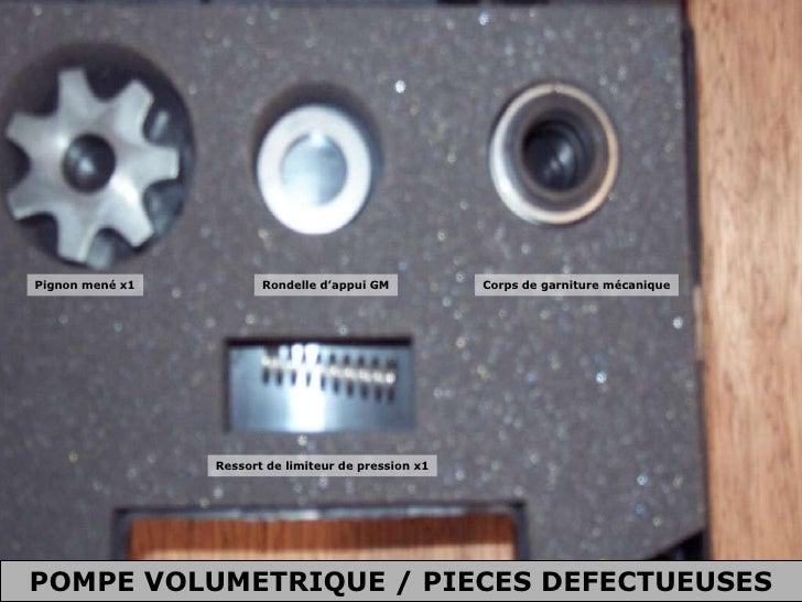 Pignon mené x1 Rondelle d'appui GM Corps de garniture mécanique Ressort de limiteur de pression x1 POMPE VOLUMETRIQUE / PI...