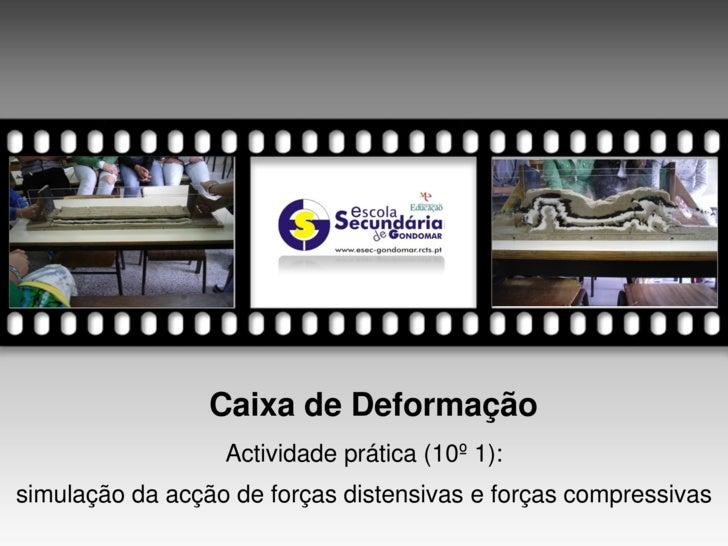 Caixa de Deformação                   Actividade prática (10º 1): simulação da acção de forças distensivas e forças compre...