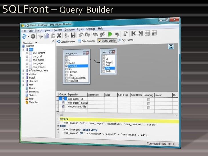SQLFront –  Query  Builder