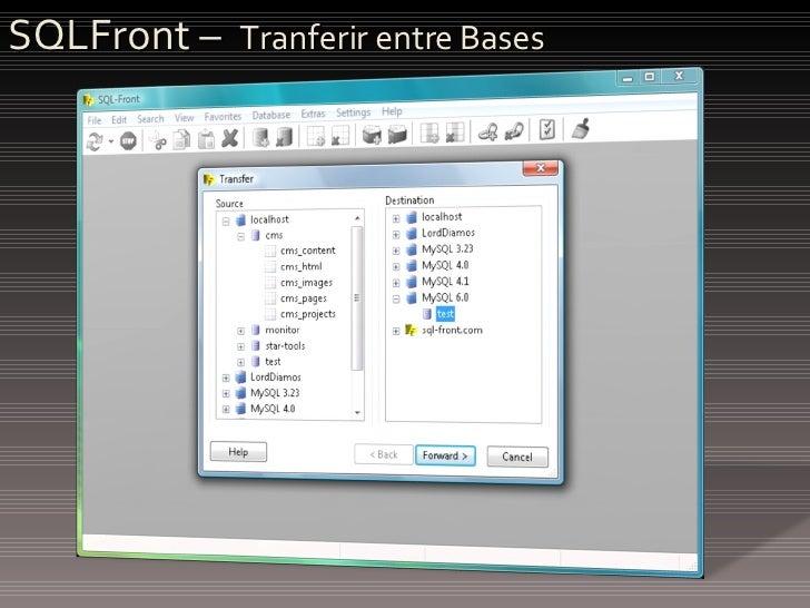 SQLFront –  Tranferir entre Bases