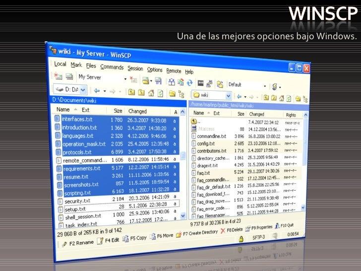 <ul><li>Una de las mejores opciones bajo Windows. </li></ul>