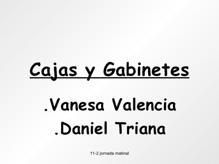 Cajas y Gabinetes .Vanesa Valencia .Daniel Triana