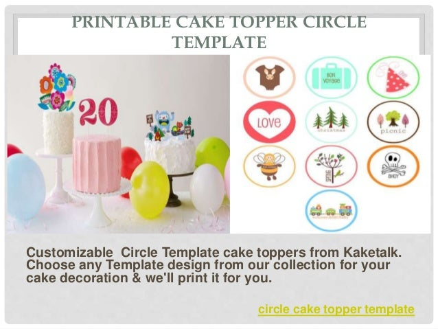 image about Printable Cake Topper Templates titled Cake Topper Circle Template