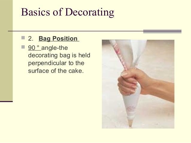 Basics Of Cake Decorating : Cake decorating