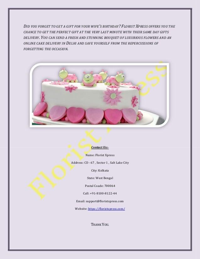 Cake Online Delivery Midnight In Delhi