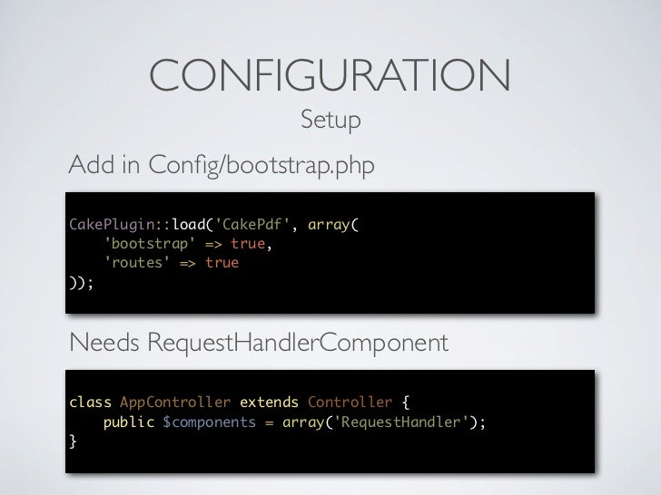 Building PHP Documents with CakePdf - CakeFest 2012