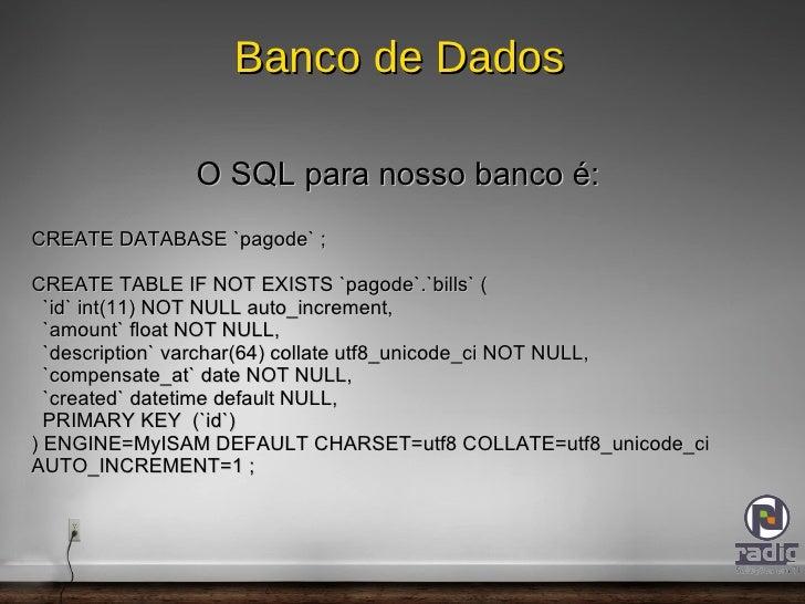 Validação de dados embutida; </li></ul></ul>