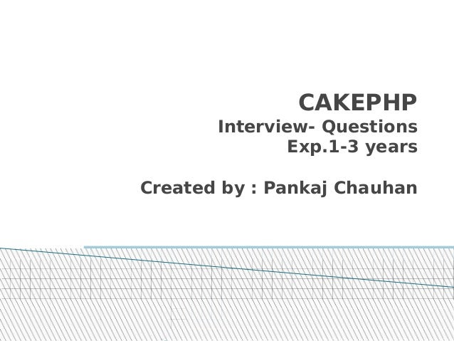 CAKEPHP INTERVIEW QUESTIONS AND ANSWERS EPUB
