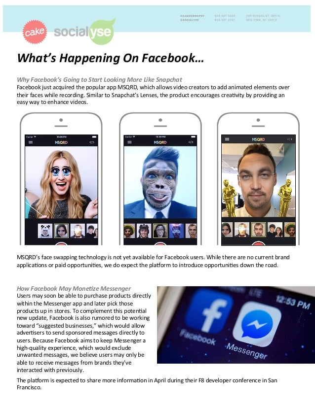 What's	   Happening	   On	   Facebook…	   	    	   Why	   Facebook's	   Going	   to	   Start	   Looking	   More	   Like	  ...
