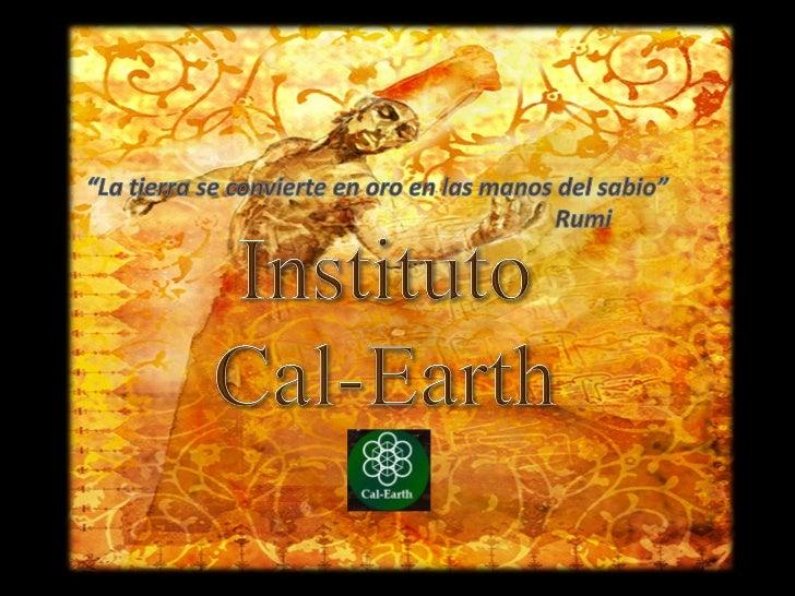 El Instituto de California de Arquitectura del Arte de la Tierra es una organización sinánimo de lucro , hoy en día está a...