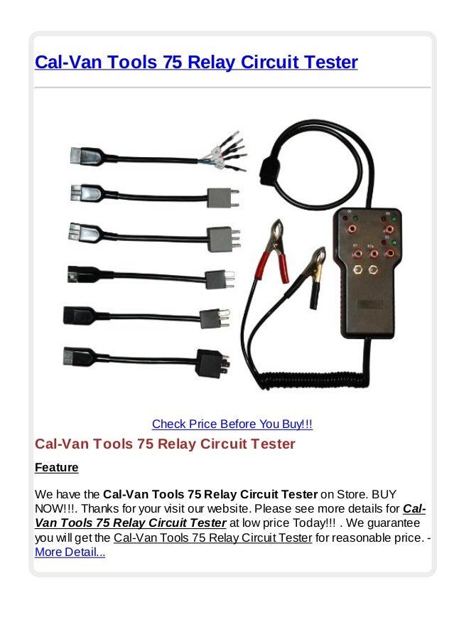 Cal van tools 75 relay circuit tester