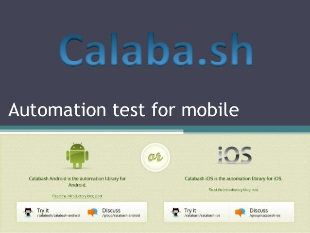Automation test for mobile