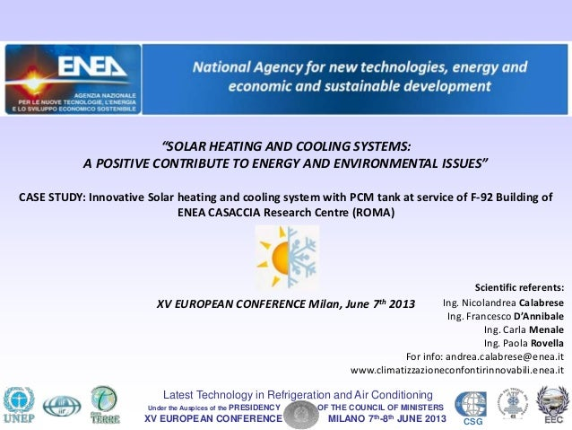 XV EUROPEAN CONFERENCE MILANO 7th-8th JUNE 2013 CSGLatest Technology in Refrigeration and Air ConditioningUnder the Auspic...