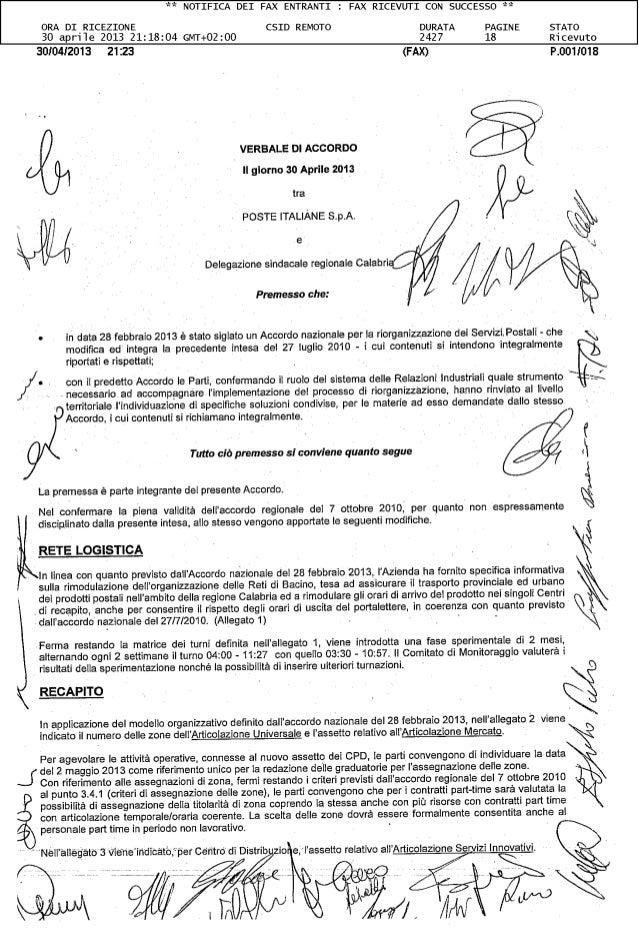 Calabria verbale accordo