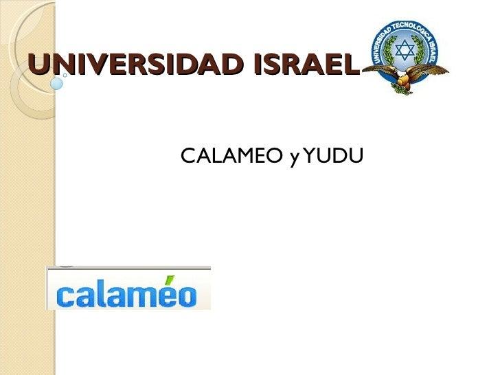 UNIVERSIDAD ISRAEL CALAMEO y YUDU