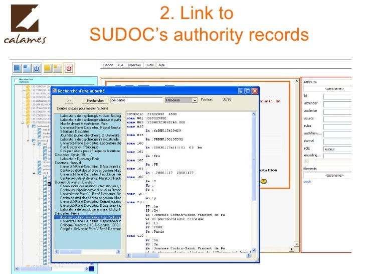 2. Link to  SUDOC's authority records