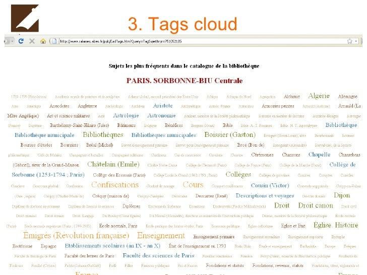3. Tags cloud