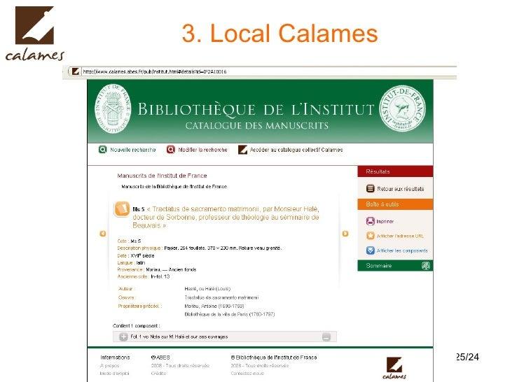 3. Local Calames