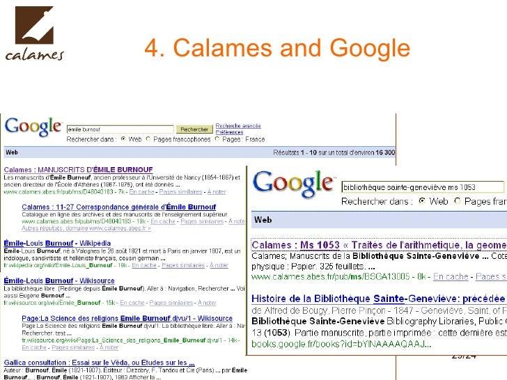 4. Calames and Google