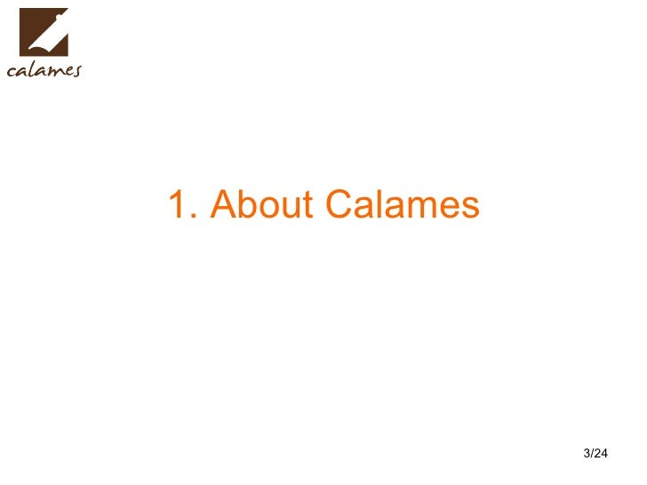 1. About Calames