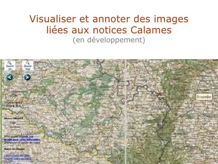 Visualiser et annoter des images liées aux notices Calames (en développement)