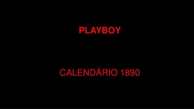 PLAYBOY CALENDÁRIO 1890