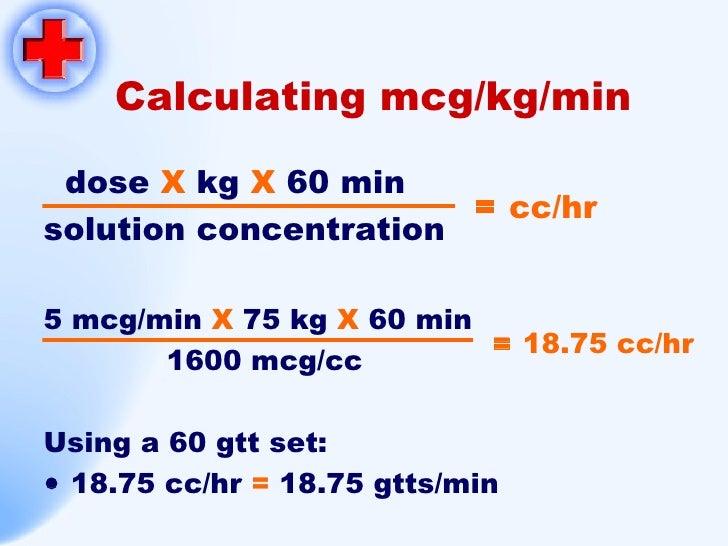 Calc drip rates