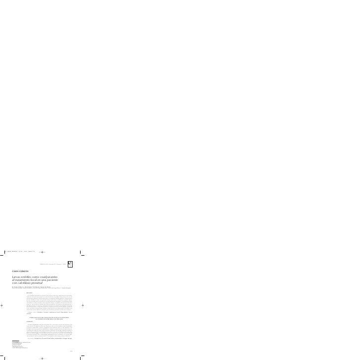 NEFROLOGÍA. Volumen 25. Número 5. 2005     CASOS CLÍNICOS  Larvas estériles como coadyuvantes al tratamiento local en una ...