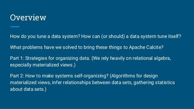 Don't optimize my queries, optimize my data! Slide 3