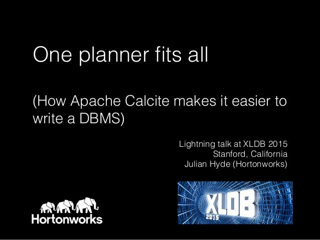 One planner fits all 
