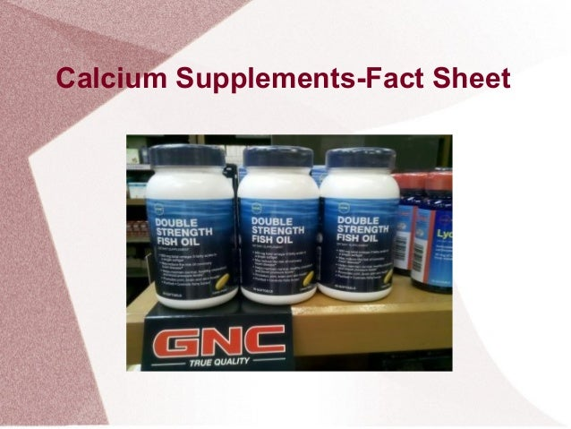 Calcium Supplements-Fact Sheet