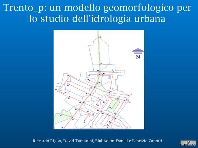 Riccardo Rigon, David Tamanini, Blal Adem Esmail e Fabrizio Zanotti Trento_p: un modello geomorfologico per lo studio dell...