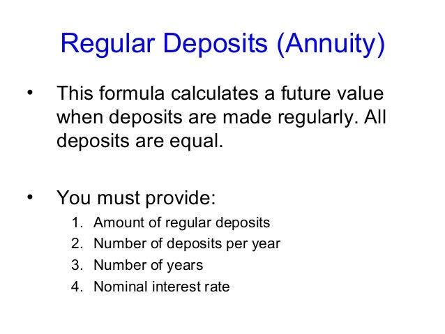 future value of regular deposits annuity