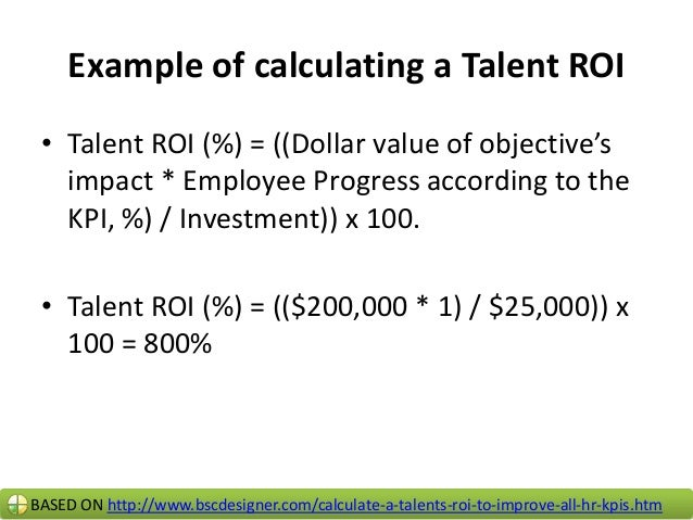 """Conclusion • With """"Talent ROI, %"""" company's top manager and HR can make informed decisions taking in account financial imp..."""