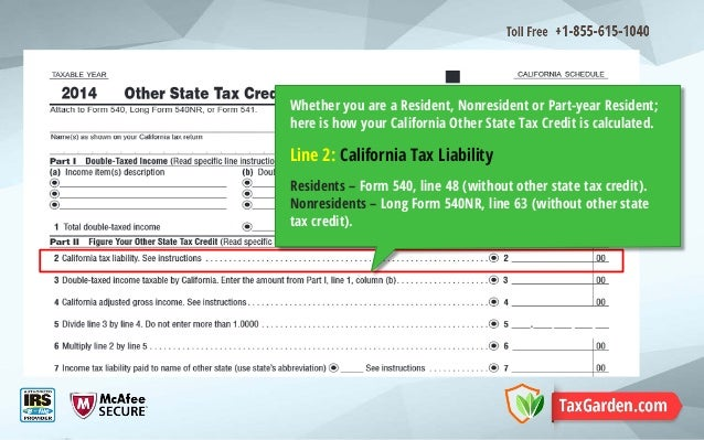 Free Standard Form California State Tax Forms Standard Form