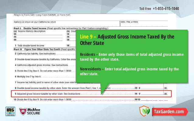 Calculate California Other State Tax Credit with Schedule S