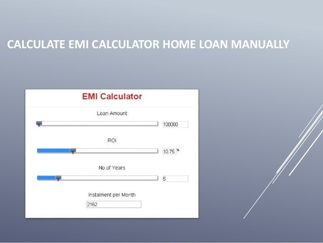 how to calculate emi for car loan manually