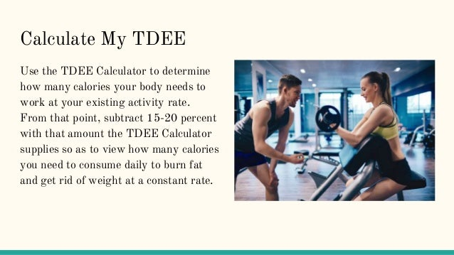 How To Calculate TDEE | MyTDEE