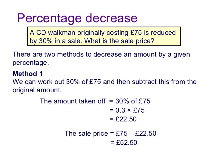 Calculate percentage change