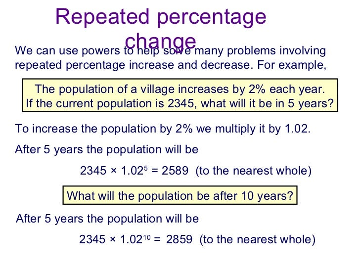 Calculate percentage change 40 repeated percentage ccuart Images