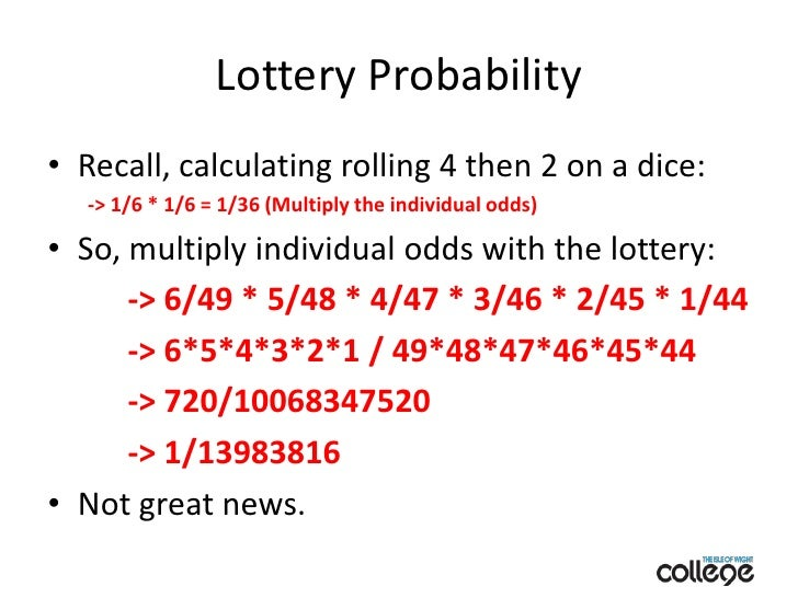 Calculate the odds.
