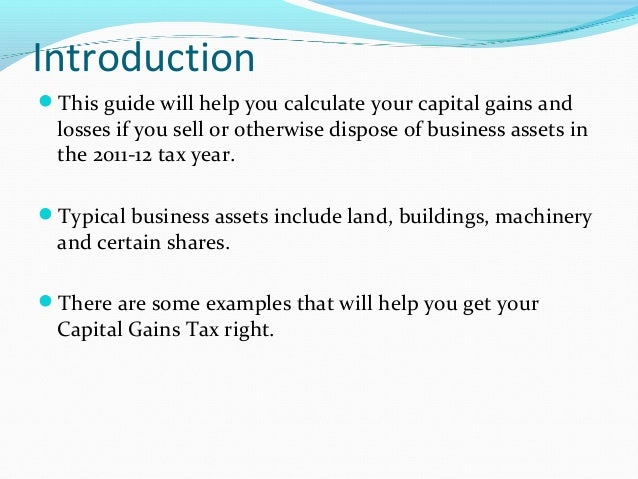 Business: Calculating Capital Gains Tax