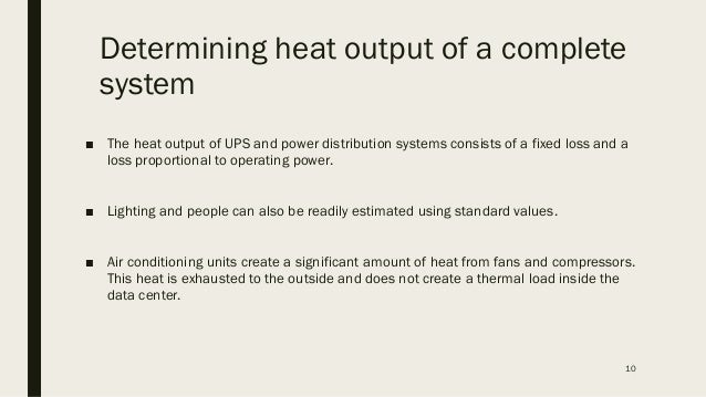 Calculating cooling requirements for data center