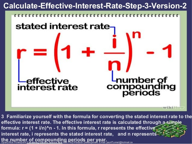 calculating effective interest rate